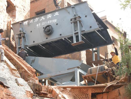 机制砂设备安装现场